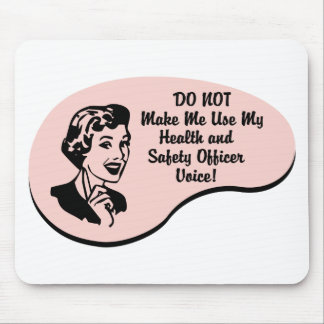 Health and Safety Officer Voice Mouse Mats