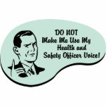 Health and Safety Officer Voice Photo Sculpture Ornament