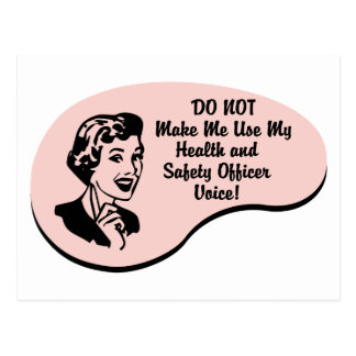 Health and Safety Officer Voice Postcard