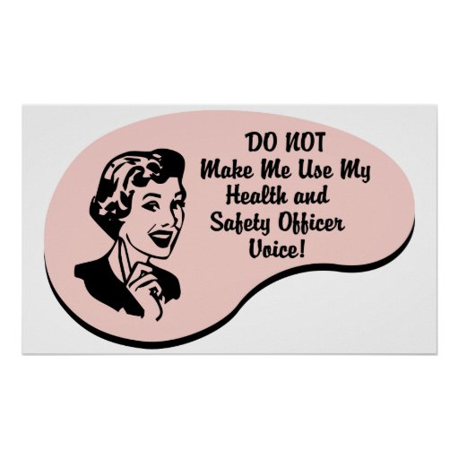 Health and Safety Officer Voice Poster