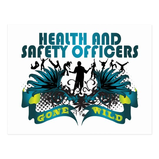 Health and Safety Officers Gone Wild Postcard