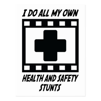 Health and Safety Stunts Postcard