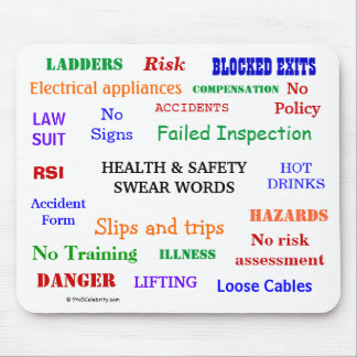Health and Safety Swear Words & Rude Expletives! Mouse Pad