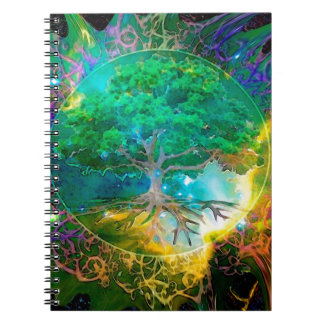 Health and Vitality Tree of Life Spiral Note Books
