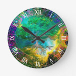 Health and Vitality Tree of Life Round Wall Clocks