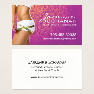 Health and Wellness Business Card Template