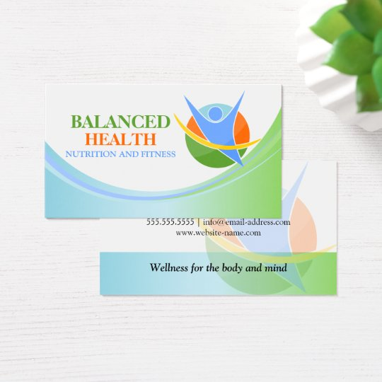 Health and wellness coach business card zazzle health and wellness coach business card reheart Image collections