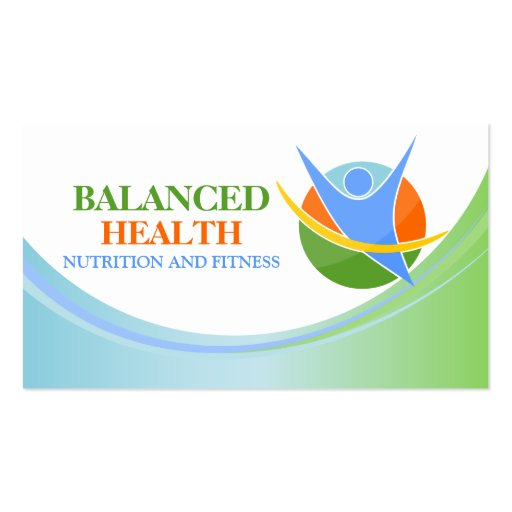 Health and Wellness Coach Business Cards