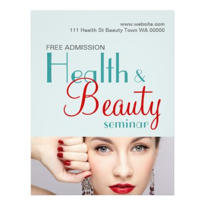 Health Beauty Seminar Flyer Invitation – Seminar Flyer