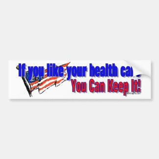 Health Care Debate Sticker Car Bumper Sticker
