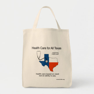 Health Care For All Texas Tote Grocery Tote Bag