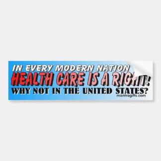HEALTH CARE IS A RIGHT BUMPER STICKER CAR BUMPER STICKER