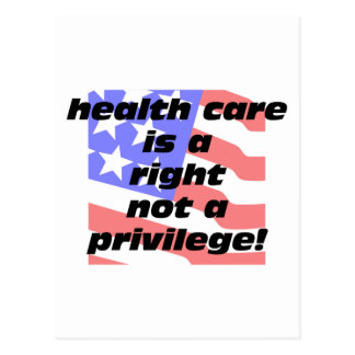 health care is a right postcard