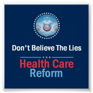 HEALTH CARE LIES Poster
