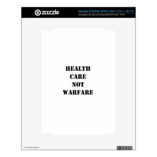 Health Care Not Warfare Decal For The NOOK