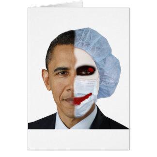 health care obama joker greeting card