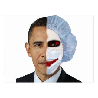 health care obama joker postcard