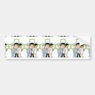 Health Care or Medical Staff - Doctor & Nurse Car Bumper Sticker