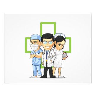 Health Care or Medical Staff - Doctor & Nurse Flyer