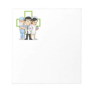 Health Care or Medical Staff - Doctor & Nurse Memo Pads