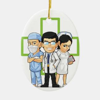 Health Care or Medical Staff - Doctor & Nurse Christmas Tree Ornament