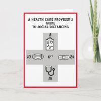 Health Care Providers social distancing Guide Card