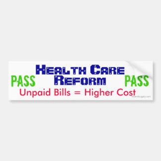 Health Care Reform Bumper Sticker