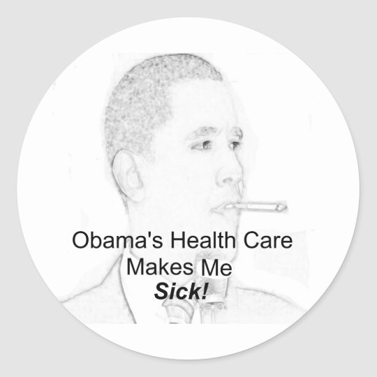 Health Care Reform Classic Round Sticker