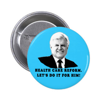 Health Care Reform Let's do it for Ted Kennedy Pin