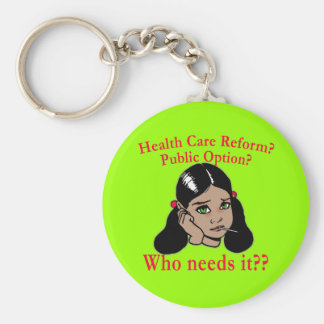 Health Care Reform? Who Needs it? Basic Round Button Keychain