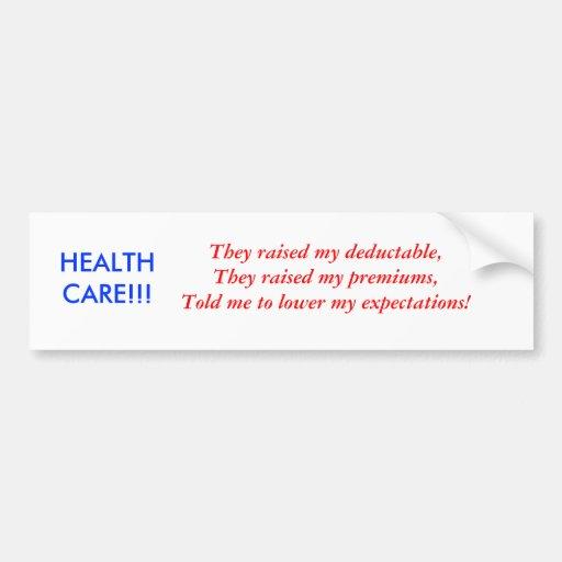 HEALTH CARE TRUTHS CAR BUMPER STICKER