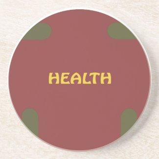 Health, Christmas Coaster With Eagle Sponap coaster