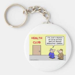 health club eating breakfast cereal keychain