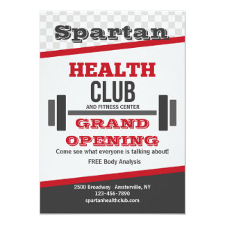 Fitness Health Club Invitations Announcements Zazzle