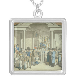Health Community at the Karlsbader Fountain Square Pendant Necklace