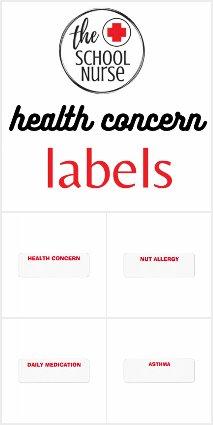 HEALTH CONCERN LABELS