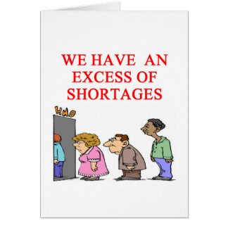 health cre shortage greeting card