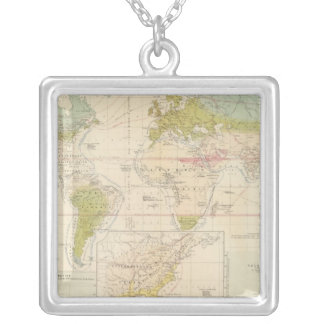 Health, disease silver plated necklace