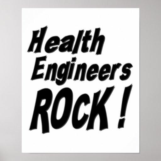 Health Engineers Rock! Poster Print