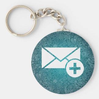 Health Envelopes Pictogram Basic Round Button Keychain