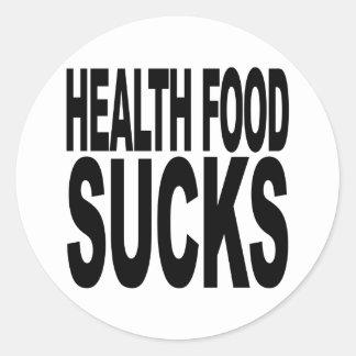 Health Food Sucks Classic Round Sticker