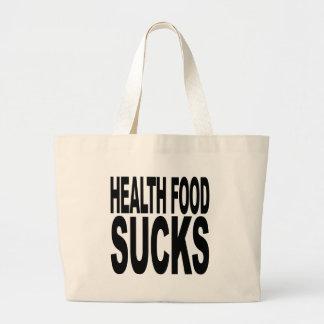 Health Food Sucks Large Tote Bag