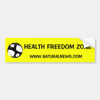 Health Freedom Zone Sticker Car Bumper Sticker