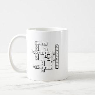 Health freeform puzzle coffee mug