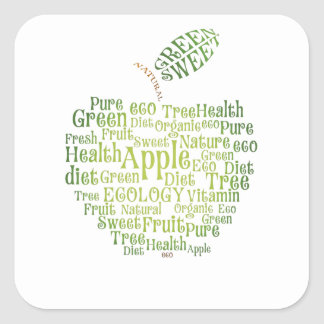 Health Green Eco Friendly Square Sticker