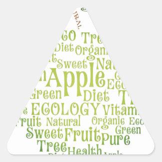 Health Green Eco Friendly Triangle Sticker