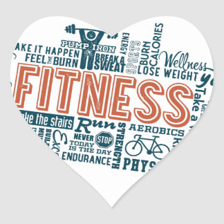 Health, Gym & Fitness gear and apparel Heart Sticker