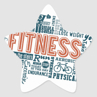 Health, Gym & Fitness gear and apparel Star Sticker