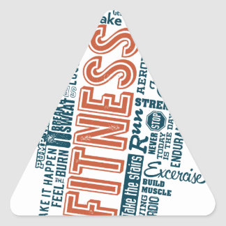 Health, Gym & Fitness gear and apparel Triangle Sticker