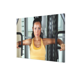 Health, gym work and fitness stretched canvas prints